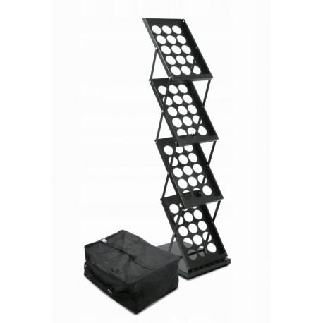Stojak na ulotki ZED-UP-4 A4 czarny
