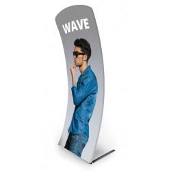 Ścianka tekstylna Wave z wydrukiem