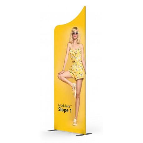 Ścianka tekstylna Modulate™ Slope 1 Prosty 82 x 230 cm z wydrukiem